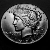 1928-P PEACE SILVER DOLLAR  CHOICE BU 5  KING OF THE PEACE DOLLARS