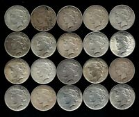 ONE ROLL 1922-26 PEACE SILVER DOLLAR TWENTY TOTAL 90 SILVER LOT S29