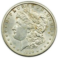 1889-S MORGAN DOLLAR, LARGE, TOUGH DATE, ABOUT UNC SILVER COIN [4265.162]
