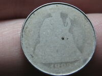 1882 OR 1883 SEATED LIBERTY SILVER DIME- ROLLED RIMS