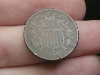 1869 TWO 2 CENT PIECE-  DATE- VG DETAILS