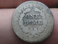 1850 P SEATED LIBERTY SILVER DIME