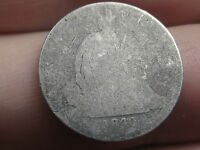 1840 SEATED LIBERTY SILVER DIME- NO DRAPERY- LOWBALL