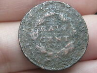 1835 CAPPED BUST HALF CENT- METAL DETECTOR FIND?