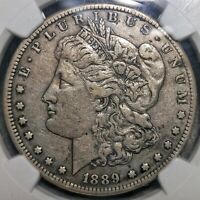 1889 CC MORGAN SILVER DOLLAR NGC EXTRA FINE  DETAILS OBV CLEANED KEY DATE CARSON CITY
