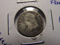 1829  LIBERTY CAPPED BUST HALF DIME. LOOKS TO BE IN FINE CONDITION, BENT