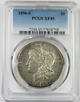 1896-S PCGS EXTRA FINE  45 SILVER MORGAN DOLLAR $1 US COIN ITEM 20541A