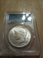 1925-S PEACE DOLLAR PCGS MINT STATE 63 BEAUTIFUL COIN  DATE