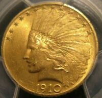 NEAR GEM BU 1910 P INDIAN $10 GOLD EAGLE PCGS MS 64 34127311