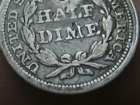 1840-1859 P SEATED LIBERTY HALF DIME- WITH DRAPERY