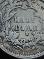 1871-S SEATED LIBERTY HALF DIME- SEMI KEY DATE