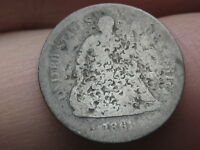 1861 P SEATED LIBERTY HALF DIME