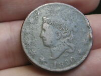 1820 MATRON HEAD LARGE CENT PENNY, LARGE DATE