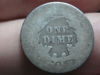 1891 S SEATED LIBERTY SILVER DIME- LOWBALL, HEAVILY WORN, PO1 CANDIDATE?