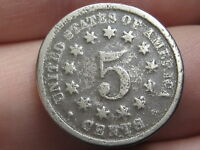 1868 SHIELD NICKEL 5 CENT PIECE- FS-905, REVERSE OF 1868, NO BROKEN LETTERS