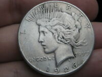 1926 S SILVER PEACE DOLLAR- VF DETAILS