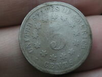 1876 SHIELD NICKEL 5 CENT PIECE