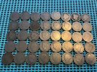 COMPLETE ROLL OF 40 1893 LIBERTY HEAD V NICKELS