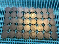 COMPLETE ROLL OF 40 1896 LIBERTY HEAD V NICKELS- ALL ORIGINAL