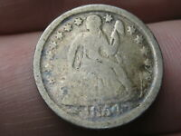 1854 SEATED LIBERTY SILVER DIME- WITH ARROWS