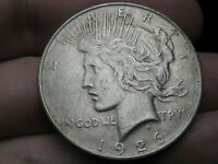 1926 D SILVER PEACE DOLLAR- VF DETAILS