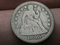 1843 SEATED LIBERTY SILVER DIME- POSSIBLE O MINT?