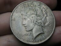 1926 D SILVER PEACE DOLLAR- VF/EXTRA FINE  DETAILS