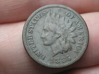 1885 INDIAN HEAD CENT PENNY- FINE/VF DETAILS