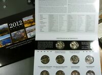 2012 P & D US MINT AMERICA THE BEAUTIFUL UNCIRCULATED 10 COI