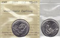 2007 ICCS MS66 25 CENTS WHEELCHAIR CURLING  2010 VANCOUVER OLYMPICS  CANADA TWEN