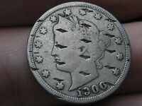 1900 LIBERTY HEAD V NICKEL- COUNTERSTAMPED/ CANCELLATION MARKS? UNIQUE