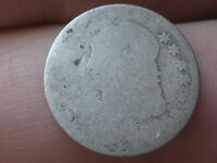 1829-1837 CAPPED BUST HALF DIME, LOWBALL, SLICK, HEAVILY WORN
