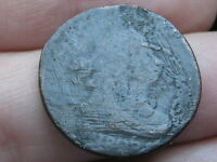 1806 DRAPED BUST HALF CENT- LARGE 6, WITH STEMS, ROTATED REVERSE MINT ERROR