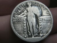 1917-1924 P SILVER STANDING LIBERTY QUARTER, RAISED DATE, TYPE 2