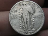 1926 P SILVER STANDING LIBERTY QUARTER, VF/EXTRA FINE  DETAILS, FULL DATE