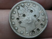1910 LIBERTY HEAD V NICKEL 5 CENT PIECE- FINE DETAILS