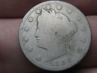 1888 LIBERTY HEAD V NICKEL 5 CENT PIECE- GOOD DETAILS, FULL DATE