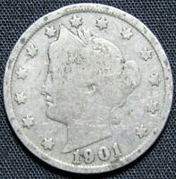 1901 US V NICKEL COIN