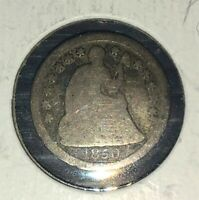 1850-O SEATED LIBERTY HALF DIME-VG TO FINE-NEW ORLEANS MINT - SILVER