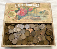 5  LBS. LOT NICE WHEAT CENTS  1909 1958  OLD WOOD BOX PENNIE