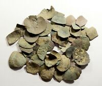 LOT OF 50 ANCIENT BYZANTINE CUP COINS/FRAGMENTS   LOW QUALIT