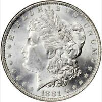 1881-O MORGAN SILVER DOLLAR PCGS MINT STATE 63 BRIGHT REFLECTIVE SURFACES-SHARP STRIKE