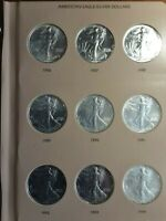 AMERICAN SILVER EAGLE COLLECTION 1986   2017 WITH EXTRAS