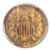 1873 2C CLOSED 3 TWO CENT PIECE PCGS PR65RB