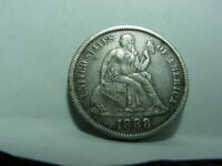 1888 SEATED LIBERTY DIME UNITED STATES 10 CENTS 90 SILVER 131 YEARS OLD