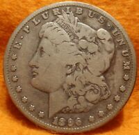 1896 S  MORGAN SILVER DOLLAR $1 COIN BUY IT NOW SAN FRANCISCO - BETTER DATE