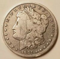 EARLY 1901 O AU MIRROR LIKE MORGAN SILVER ONE DOLLAR $1 90 SILVER US MINT EAGLE