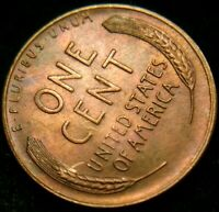 1949-S LY TONED UNCIRCULATED LINCOLN CENT WHEAT CENT
