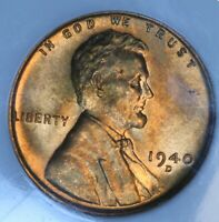 1940-D 1C LINCOLN WHEAT CENT PENNY NGC MINT STATE 67 RD RED BU UNC
