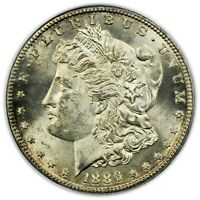 1886-S MORGAN DOLLAR, PCGS MINT STATE 63,   CONDITION, TOUGH DATE COIN [4232.22]